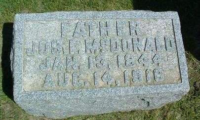 MCDONALD, JOSEPH FLETCHER - Madison County, Iowa | JOSEPH FLETCHER MCDONALD