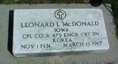 MCDONALD, LEONARD LEWIS - Madison County, Iowa | LEONARD LEWIS MCDONALD