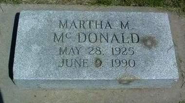 MCDONALD, MARTHA M. - Madison County, Iowa   MARTHA M. MCDONALD