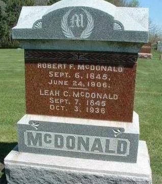 MCDONALD, ROBERT FLETCHER - Madison County, Iowa | ROBERT FLETCHER MCDONALD