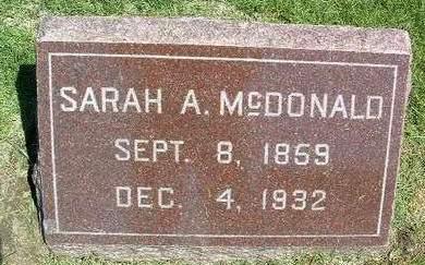 MCDONALD, SARAH ANN - Madison County, Iowa | SARAH ANN MCDONALD