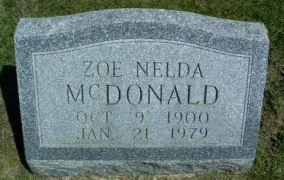 MCDONALD, ZOE NELDA - Madison County, Iowa | ZOE NELDA MCDONALD