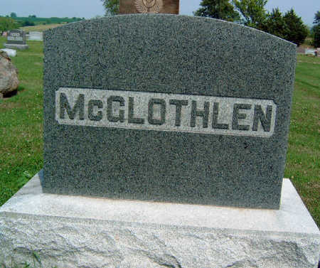 MCGLOTHLEN, FAMILY STONE - Madison County, Iowa | FAMILY STONE MCGLOTHLEN