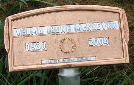 MCKEEVER, VELMA IRENE - Madison County, Iowa | VELMA IRENE MCKEEVER