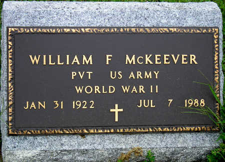 MCKEEVER, WILLIAM FREDERICK - Madison County, Iowa | WILLIAM FREDERICK MCKEEVER