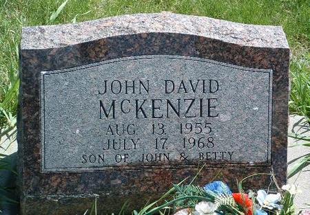 MCKENZIE, JOHN DAVID - Madison County, Iowa   JOHN DAVID MCKENZIE