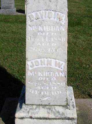 MCKIBBAN, JOHN W. - Madison County, Iowa | JOHN W. MCKIBBAN