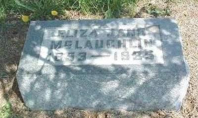 MCLAUGHLIN, ELIZA JANE - Madison County, Iowa | ELIZA JANE MCLAUGHLIN