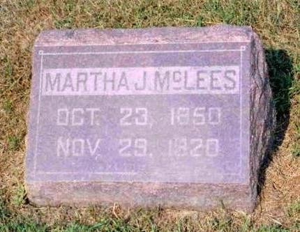MCLEES, MARTHA JANE - Madison County, Iowa | MARTHA JANE MCLEES