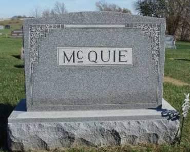 MCQUIE, FAMILY STONE - Madison County, Iowa | FAMILY STONE MCQUIE