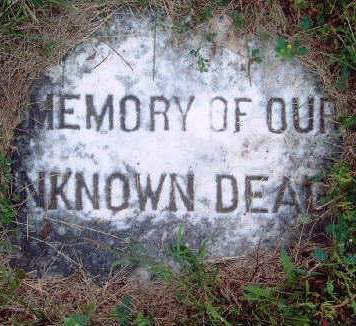 MEMORY, OF  OUR UNKNOWN DEAD - Madison County, Iowa | OF  OUR UNKNOWN DEAD MEMORY