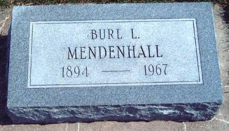 MENDENHALL, BURL LUCILLE - Madison County, Iowa | BURL LUCILLE MENDENHALL