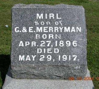 MERRYMAN, MIRL - Madison County, Iowa   MIRL MERRYMAN