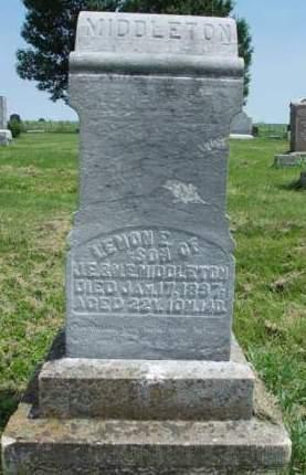MIDDLETON, LEMON E. - Madison County, Iowa | LEMON E. MIDDLETON