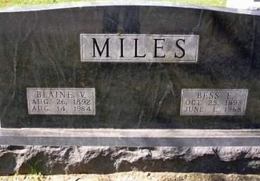 MILES, VICTOR BLAINE - Madison County, Iowa | VICTOR BLAINE MILES