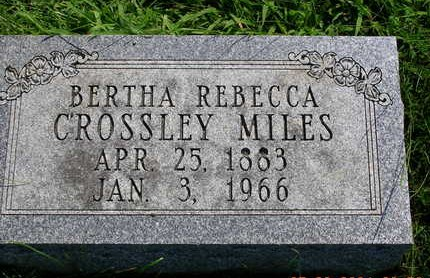 MILES, BERTHA REBECCA - Madison County, Iowa   BERTHA REBECCA MILES