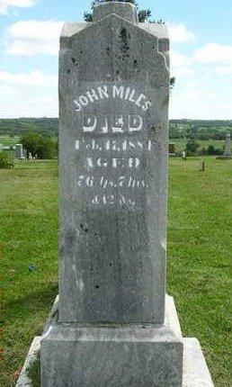 MILES, JOHN - Madison County, Iowa   JOHN MILES