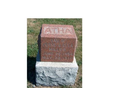 MILLER, ATHA PEARL - Madison County, Iowa | ATHA PEARL MILLER