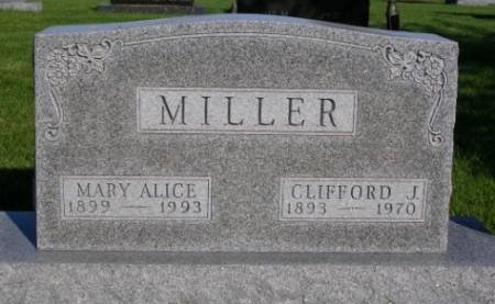 MILLER, MARY ALICE - Madison County, Iowa | MARY ALICE MILLER