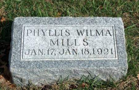 MILLS, PHYLLIS WILMA - Madison County, Iowa | PHYLLIS WILMA MILLS