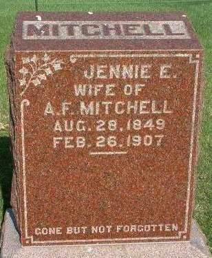 MITCHELL, JENNIE ELIZABETH - Madison County, Iowa | JENNIE ELIZABETH MITCHELL