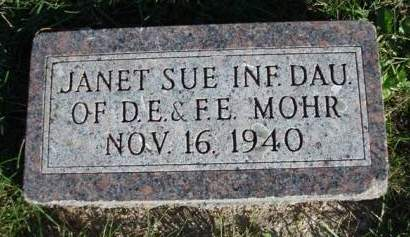 MOHR, JANET SUE - Madison County, Iowa   JANET SUE MOHR