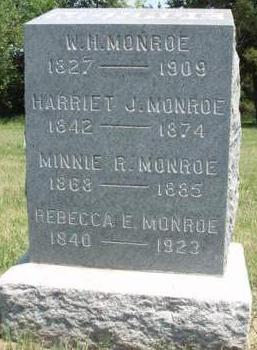 MONROE, MINNIE REBECCA - Madison County, Iowa | MINNIE REBECCA MONROE