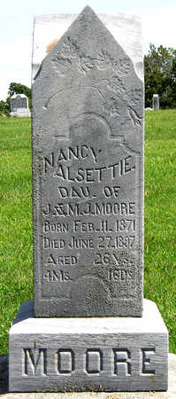 MOORE, NANCY ALSETTIE - Madison County, Iowa | NANCY ALSETTIE MOORE