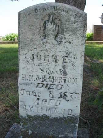 MORTON, JOHN E. - Madison County, Iowa | JOHN E. MORTON