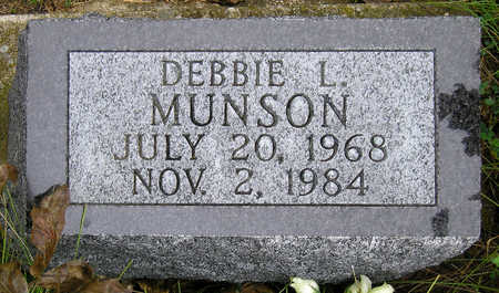 MUNSON, DEBORAH 'DEBBIE' LYNNE - Madison County, Iowa   DEBORAH 'DEBBIE' LYNNE MUNSON