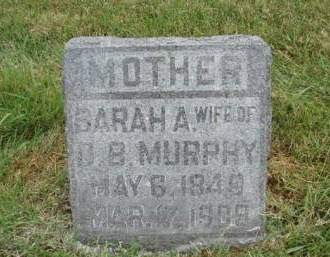 MURPHY, SARAH ADELINE - Madison County, Iowa   SARAH ADELINE MURPHY