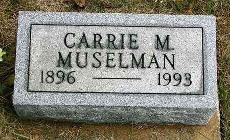 MUSELMAN, CARRIE M. - Madison County, Iowa | CARRIE M. MUSELMAN