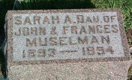 MUSELMAN, SARAH ADELINE - Madison County, Iowa | SARAH ADELINE MUSELMAN