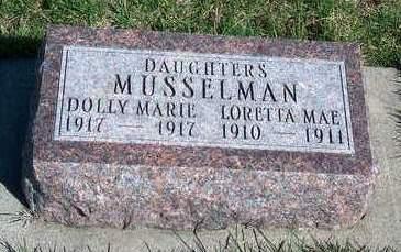 MUSSELMAN, DOLLIE MARIE - Madison County, Iowa | DOLLIE MARIE MUSSELMAN