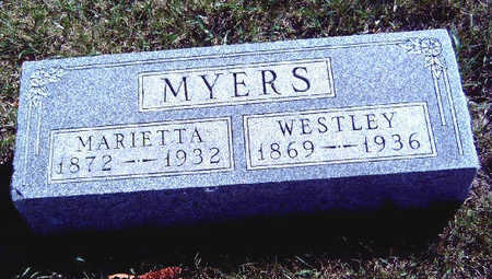 MYERS, MARIETTA - Madison County, Iowa | MARIETTA MYERS