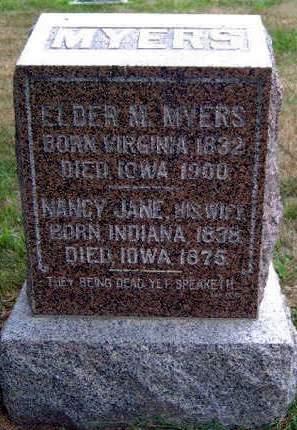 MYERS, NANCY JANE - Madison County, Iowa | NANCY JANE MYERS