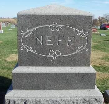 NEFF, FAMILY STONE - Madison County, Iowa | FAMILY STONE NEFF