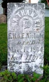 NICHOLS, NATHANIEL G. - Madison County, Iowa   NATHANIEL G. NICHOLS