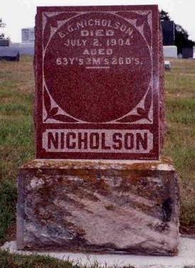 NICHOLSON, ELBERT GETER - Madison County, Iowa | ELBERT GETER NICHOLSON