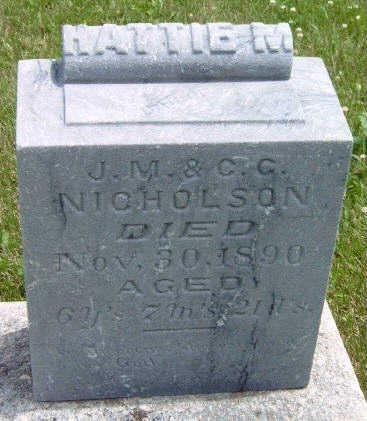 NICHOLSON, HATTIE MYRTLE - Madison County, Iowa   HATTIE MYRTLE NICHOLSON