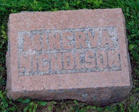 NICHOLSON, MINERVA - Madison County, Iowa   MINERVA NICHOLSON