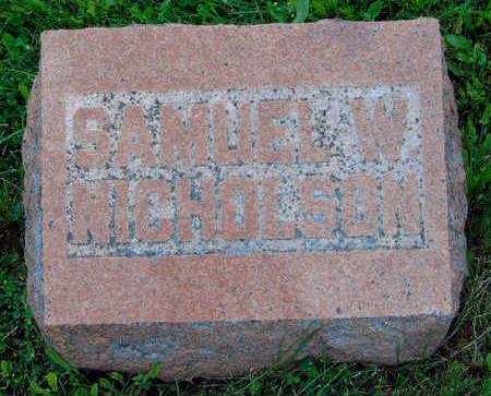 NICHOLSON, SAMUEL W., JR. - Madison County, Iowa | SAMUEL W., JR. NICHOLSON