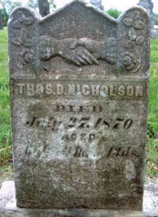 NICHOLSON, THOMAS D. - Madison County, Iowa | THOMAS D. NICHOLSON