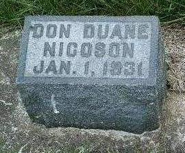 NICOSON, DON DUANE - Madison County, Iowa   DON DUANE NICOSON