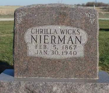 NIERMAN, CHRILLA - Madison County, Iowa   CHRILLA NIERMAN