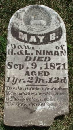 NIMAN, MAY B. - Madison County, Iowa | MAY B. NIMAN