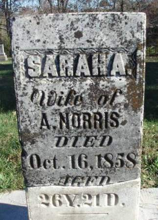 NORRIS, SARAH A. - Madison County, Iowa | SARAH A. NORRIS