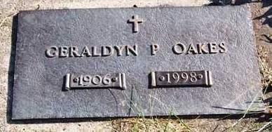 OAKES, GERALDYN PEARL - Madison County, Iowa   GERALDYN PEARL OAKES
