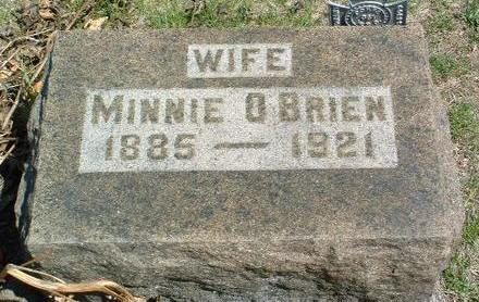 O'BRIEN, MINNIE BERTHA - Madison County, Iowa | MINNIE BERTHA O'BRIEN