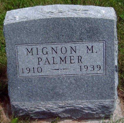 PALMER, MIGNON MABEL - Madison County, Iowa   MIGNON MABEL PALMER